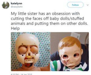 Doll face transplant